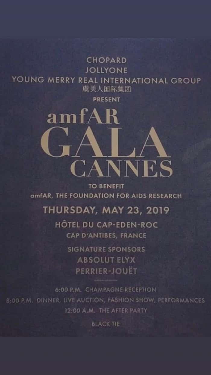 De splendides lustres ornent le gala de l'amfAR à Antibes | Festival de Cannes